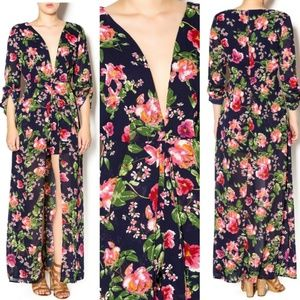 Beautiful Xtaren Floral Romper w/ Maxi Skirt Sz S